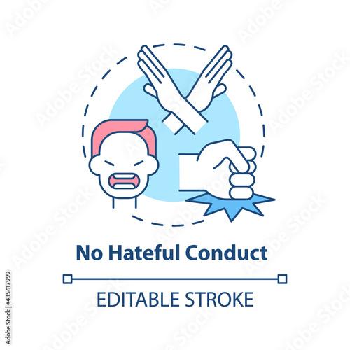 Fototapeta No hateful conduct concept icon