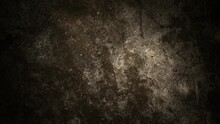 Black Background Cracked White Wall And Floating Smoke