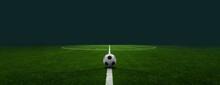 Textured Soccer Game Field - Center, Midfield