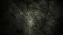 Grey Background Cracked White Wall And Floating Smoke