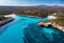 Aerial Of Parc Natural De Mondrago, Mallorca (Majorca), Balearic Islands, Mediterranean