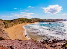 Platja De Cavalleria (Cavalleria Beach), Elevated View, Menorca (Minorca), Balearic Islands, Mediterranean