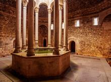 Arab Baths, Interior, Old Town, Girona (Gerona), Catalonia
