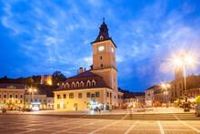 Council Square, Old Town Square In Brasov, Transylvania, RomaniaEurope