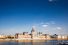 The Hungarian Parliament Building On The Banks Of The River Danube In Pest, UNESCO World Heritage Site, Budapest, Hungary