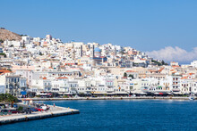 Ermoupoli, Also Known By The Formal Older Name Ermoupolis (Hermoupolis) On The Island Of Syros, Cyclades, Greek Islands, Greece