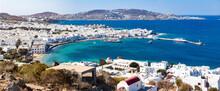 Scenic View Over Mykonos Town, Mykonos Island, Cyclades, Aegean Sea, Greek Islands, Greece