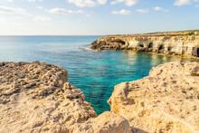 Cape Greco In Ayia Napa, Famagusta District, Cyprus, Mediterranean