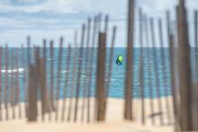 James Jenkins On His Wind Surfer In The Atlantic Ocean In Nags Head, North Carolina