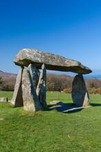 Pentre Ifan Burial Chamber, Preseli Hills, Pembrokeshire, Wales, United Kingdom