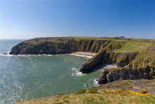 Church Doors Cove, Skrinkle Haven, Pembrokeshire Coast, Wales, United Kingdom