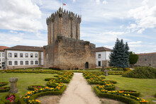 Chaves City Historic Castle With Beautiful Flower Garden, Chaves, Vila Real, Portugal