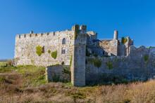 Manorbier Castle, Pembrokeshire, Wales, United Kingdom