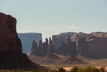 Layers Of Buttes And Mesas In Monument Valley