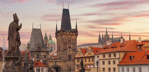 Prague - Charles bridge, Czech Republic Fototapet