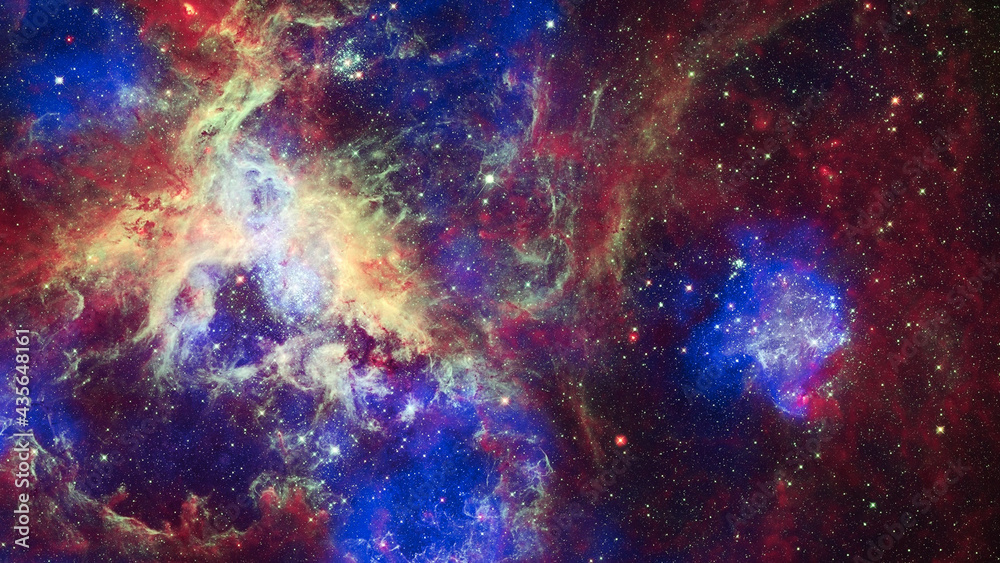 image of nebula and stars,infinite space background. largest star-forming regions close to the Milky Way. Elements of this image furnished by NASA - obrazy, fototapety, plakaty