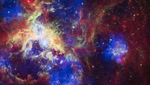 Image Of Nebula And Stars,infinite Space Background. Largest Star-forming Regions Close To The Milky Way. Elements Of This Image Furnished By NASA