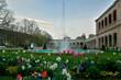 Im Kurgarten von Bad Kissingen an einem Frühlingabend