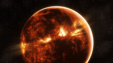 Red Planet In Space With Stars