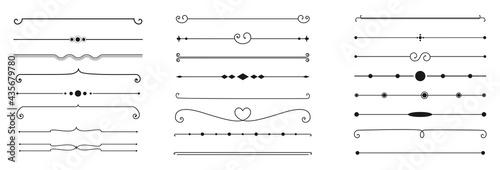 Fotografia calligraphic ornamental divider collection