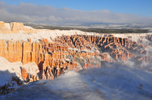 Early Winter Snowstorm And Hoodoos In Bryce Canyon Utah