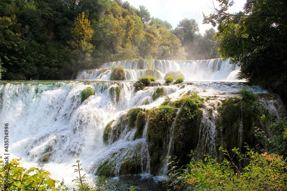 Krka waterfalls in the Krka National Park, Croatia
