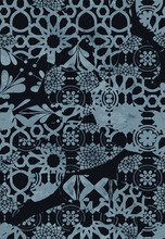 Abstract Floral Collage Machine Carpet Pattern Design