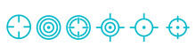 Targets, A Group Of Blue Targets, Target Icons For Shooting