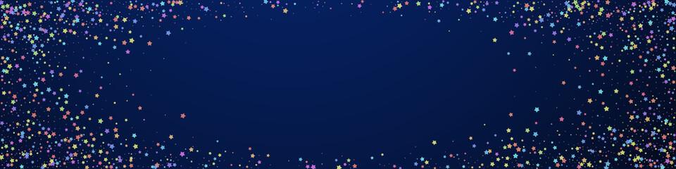 Festive adorable confetti. Celebration stars. Colo