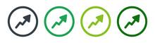 Increasing Growth Arrow Graphic Icon Vector Illustration