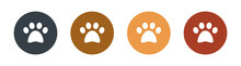 Dog Or Cat Paw Icon.