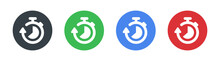 Vector Countdown, Clock Counter, Timer On Circle Design. Fast Time Icon.