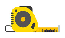 Measuring Tape Tool Vector Flat Illustration Isolated On White Background
