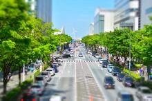 都会の道路