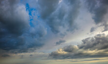 Dramatic Sky With Dark Clouds. Abstract Background