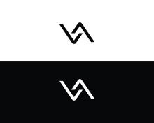 Initial Letter Va Or Av Logo Design Template.