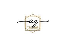 Letter AZ Luxury Logo Design Collection