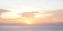 Sunset Over The Ocean In Thailand On The Island Koh Tao At The Sairee Beach May 10, 2021
