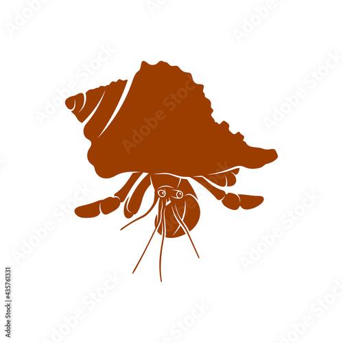 Obraz na plátně Hermit crab design vector illustration, Creative Hermit crab logo design concept