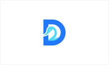 Letter D For Duck Creative Icon Logo In Flat Design Vector Illustration