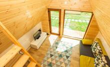 Small Wooden House Interior, Architectural Design