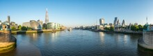 London Skyline Panorama Along The Thames River