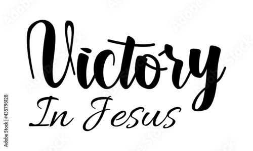 Fotografie, Obraz Victory in Jesus, Christian Quote for print or use as poster, card, flyer or T S