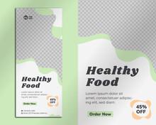 Food Roll Up Banner Design Template For Restaurant Premium Vector