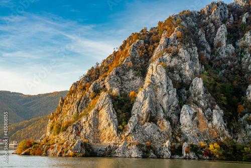 Fototapeta Danube gorge in Djerdap on the Serbian-Romanian border