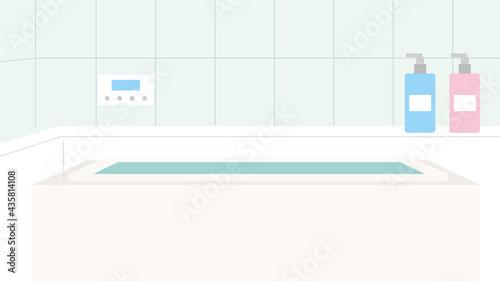 Photographie 浴室 浴槽 風呂場 バスルーム イラスト素材