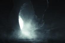 Dark Cave Entrance, Underground Landscape