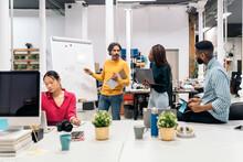 Brainstorming Meeting In The Office
