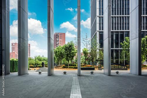 Foto Modern business building in Nanjing, China