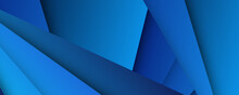 Modern 3d Blue Abstract Background With Overlap Layers. Dark Blue Background With Abstract Graphic Elements For Presentation Background Design.